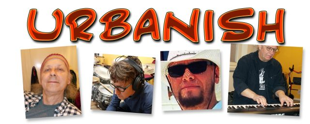 The four members of the band URBANISH who plays jazz and blues